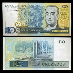 1986 Brazil 100 Crusados Crisp Uncirculated Note (CUR-05574)