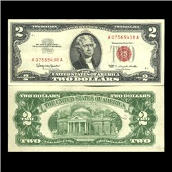 1963 $2 US Note High Grade AU (CUR-06036)