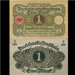 1920 Germany 1 Mark Crisp Circulated Note (CUR-05870)