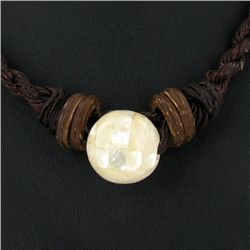 Tibet MOP Shell Choker Necklace (JEW-3583)
