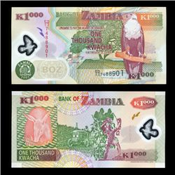 2005 Zambia 1000k Crisp Uncirculated Polymer Note (COI-4567)