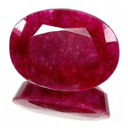 7+ct. Excellent African Ruby Oval Cut (GMR-0082A)