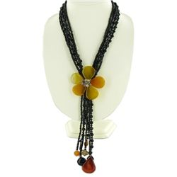 1130ct Agate  & Crystal Necklace (JEW-3648)