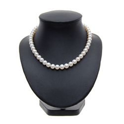 Rare White Saltwater Pearl Necklace (JEW-268)