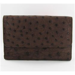 Ladies Ostrich Hide Skin Wallet  (ACT-253)