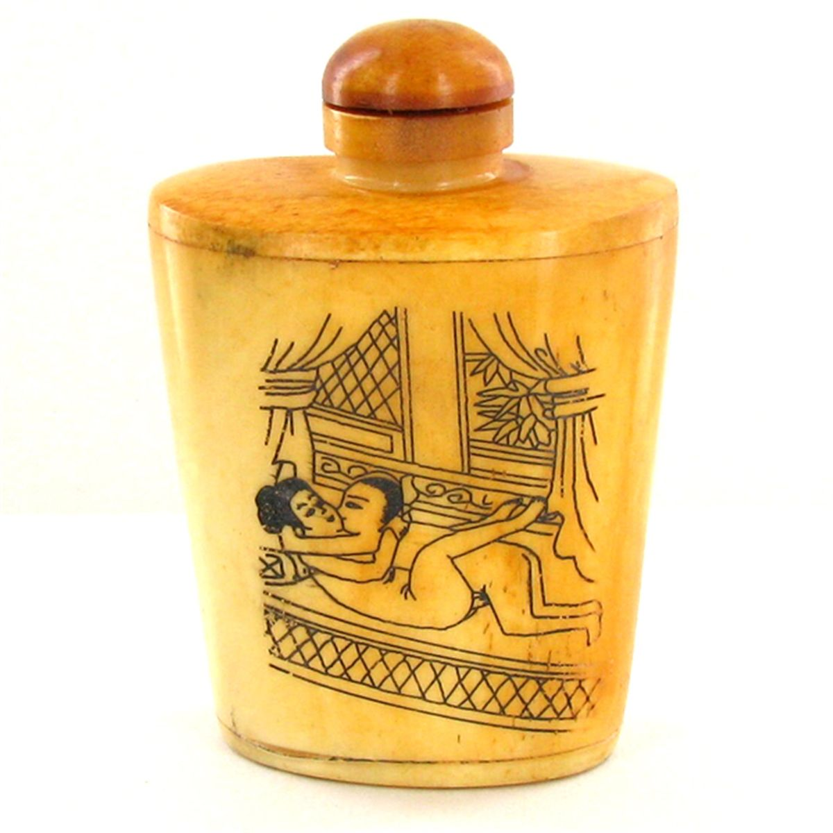 Kamasutra Chinese Bone Snuff Bottle CLB945