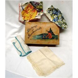 Vintage Stockings and Handkerchiefs Dresser Box