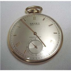 Gruen Precision Pocket Watch, Engraved