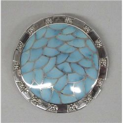 Zuni Sterling Turquoise Pin/Pendant by Haloo