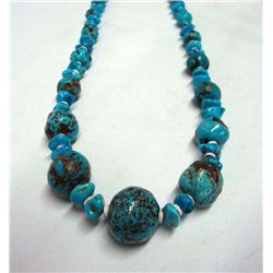 Sleeping Beauty Turquoise & Heishi Necklace