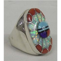 Zuni Sterling Silver Ring By Amy Size 9 1/2