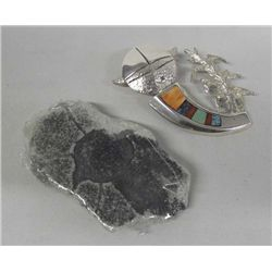 Navajo Sterling Pendant & Tufa Stone Mold By Begay