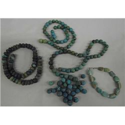 3 Strings Turquoise Beads & 1 Bracelet
