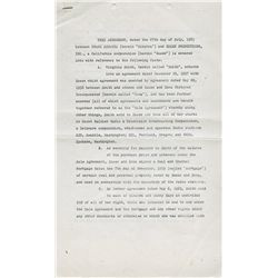 Frank Sinatra signed contract