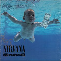 Nirvana Nevermind signed poster