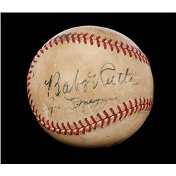 Babe Ruth & Joe DiMaggio signed baseball