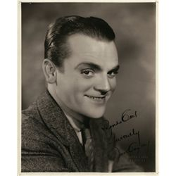 Pair of vintage portrait photos signed by James Cagney and Edward G. Robinson