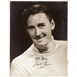 Errol Flynn oversize photograph signed
