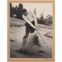 Vintage pro-golfer autograph collection of (4) oversize photos inscribed to Johnny Weissmuller