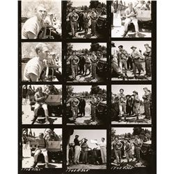 Steve McQueen and Frank Sinatra full and partial contact sheets (48) from Never So Few
