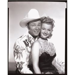 Roy Rogers and Dale Evans camera negatives
