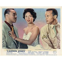 Collection of African-American (3) UK front-of-house color lobby card sets including Carmen Jones