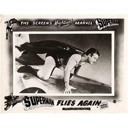 Comic Book Superhero  2 UK front-of-house lobby card sets, Batman & Superman Flies Again
