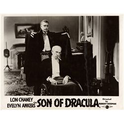 Lon Chaney, Jr. horror  3 UK front-of-house lobby card still sets, including Son of Dracula