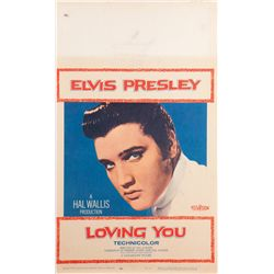 Elvis Presley  9 window-card posters including Jailhouse Rock, Loving You, & King Creole