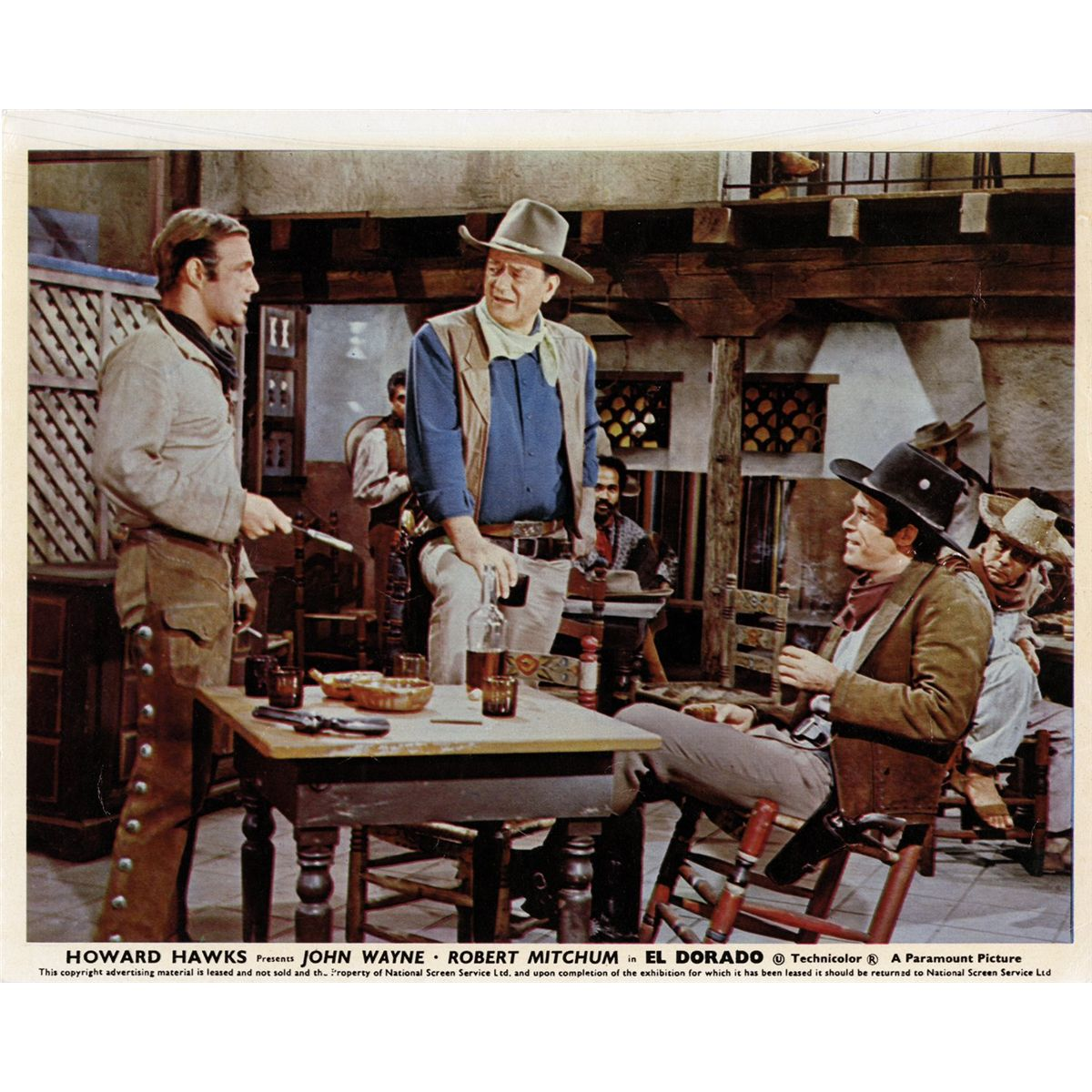 John Wayne Western 50 UK Front Of House Color Lobby Cards Including She Wore A Yellow Ribbon
