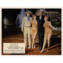 John Wayne/non-Western collection of (6) UK front-of-house color & (1) B&W lobby card sets