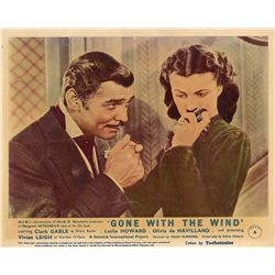 Gone With the Wind original and reissue UK front-of-house color lobby card sets