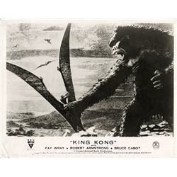 King Kong collection of (9) UK front-of-house stills from 1947 and ca. 1960