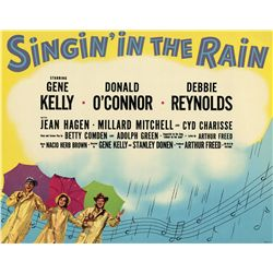 Singin' in the Rain set of (9) deluxe lobby cards in original printed sleeve