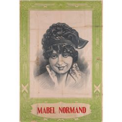 "Mabel Normand ""stock"" one-sheet poster, ca. 1915"