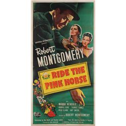 Ride the Pink Horse original U.S. 3-sheet poster for the 1947 Film Noir classic