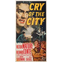 Cry of the City three-sheet poster