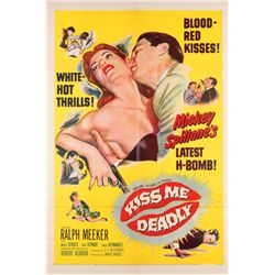 Film Noir  5 1-sheet posters for 1950's classic titles including Kiss Me Deadly & Narrow Margin