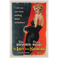 Lady from Shanghai original U.S. one-sheet poster on linen