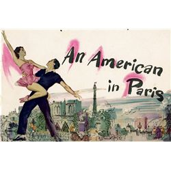 1950's lot of ephemera for An American in Paris, Gigi, & White Christmas, with posters by Kapralik