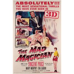1950's 3-D collection of (5) 1-sheet posters including The Mad Magician