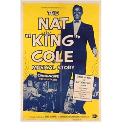 Famous Musicians collection of (7) 1-sheet posters, including The King Cole Musical Story