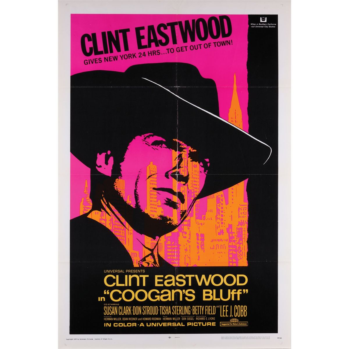 Clint Eastwood Lot Of (3) 1-sheet Posters Including Coogan