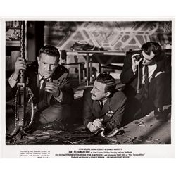 Stanley Kubrick lot of 8 original still photos for Dr. Strangelove plus poster for Paths of Glory