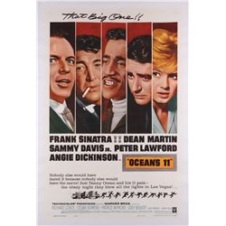 Ocean's 11 original U.S. one-sheet poster on linen
