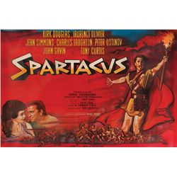 Spartacus original French 2-panel billboard on linen