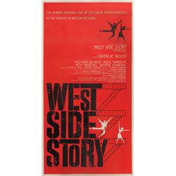 West Side Story original U.S. three-sheet poster on linen