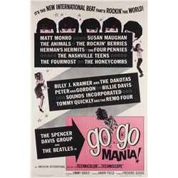 1960's Rock & Roll, Exploitation, & Party  11 1-sheet posters including The Beatles in Go-Go Mania