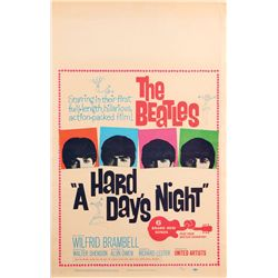 1960's classic window-card posters for: A Hard Day's Night, West Side Story, The Birds, & Psycho