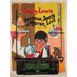 The Nutty Professor original French Grande-format stone-litho poster for the 1963 version